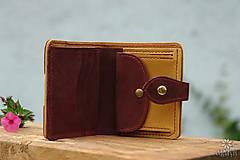 Peňaženky - Menšia kožená peňaženka IX. - 10959324_