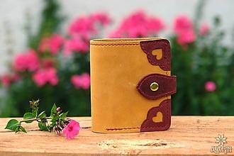 Peňaženky - Menšia kožená peňaženka IX. - 10959325_