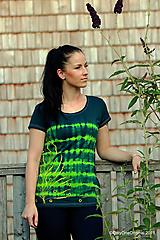 Tričká - Dámske tričko maľované, batikované CALLUNA - 10957533_