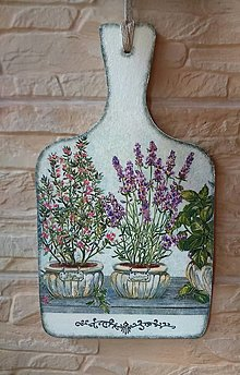 Dekorácie - Dekoračný lopárik - Vôňa byliniek - 10958910_