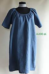 Šaty - Ľanové šaty...modré - 10956885_