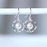 Náušnice - Swarovski pearl náušnice /m-71 - 10959090_