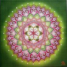 Obrazy - Mandala lásky a srdcovej čakry - 10959805_