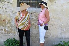 Topy - maľba na hodvábe - blúzka RUŽOVÁ LÚKA - 10959321_