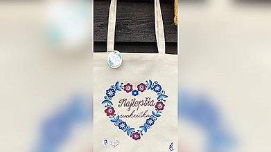 Iné tašky - ♥ Plátená, ručne maľovaná taška ♥ - 10958080_