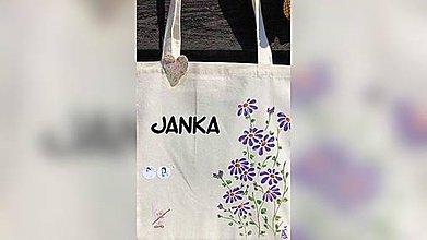 Iné tašky - ♥ Plátená, ručne maľovaná taška ♥ - 10958097_