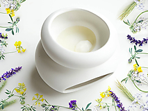 Svietidlá a sviečky - Vonný vosk - Levanduľa s bylinkami - 10956968_