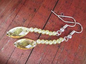 Náušnice - zlatý diamant - 10957034_