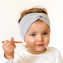Detské doplnky - Čelenka elastic & twist 21 odtieňov - 10960238_