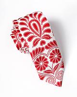 Doplnky - Pánska kravata - potlač FOLKLÓRNE VYŠÍVANCE - 10957893_
