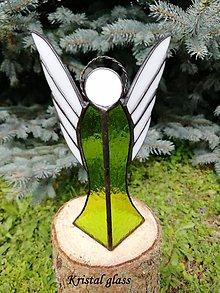Svietidlá a sviečky - Anjel - svietnik - 10959104_