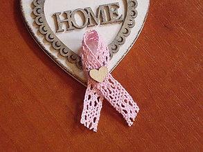 Pierka - Č. 361 Pierka s ružovou krajkou a srdiečkom - 10957677_