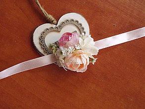 Náramky - Náramky pink, marhuľové a ivory s gipsophillou - 10958535_