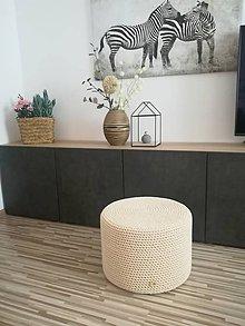 Úžitkový textil - Puf, taburetka, stolík - 3v1 - 10957325_