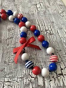 Náhrdelníky - námornícky náhrdelník s mašličkou - 10958153_