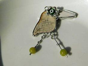 Náhrdelníky - Biela vrana- jadeit, tiffany - 10962670_