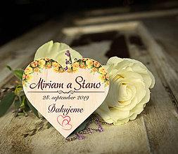 Darčeky pre svadobčanov - Svadobná magnetka - 10962219_