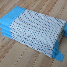 Úžitkový textil - Zástena BODKA*modrá*zelená*ružová - 10962724_