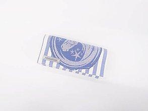 Peňaženky - Priehradková peňaženka modro-biele pruhy s odstrižkom My Little Unicorn - 10960416_