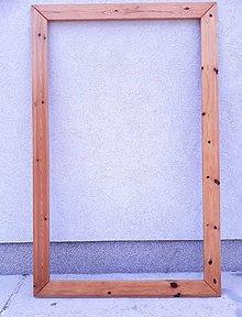 Polotovary - Veľký borovicový rám 119 × 77 cm - 10960347_