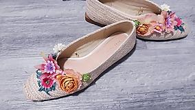 Obuv - Kvetmi-kvetované:) balerínky - 10960984_