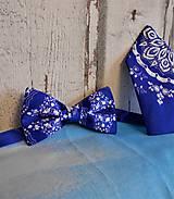 """Doplnky - Pánsky motýlik + vreckovka """" Slovenská ornamentika """" - 10960519_"""