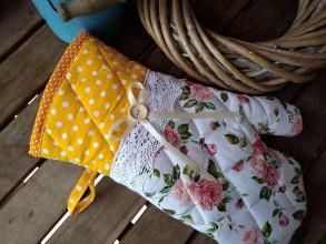 Úžitkový textil - Rukavica-chňapka - 10960344_
