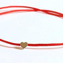 Náramky - Srdce náramok na nohu - 10960966_