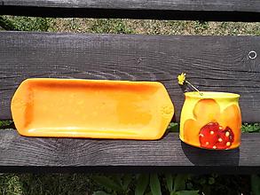Nádoby - Tácka orange - 10962104_