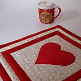 Úžitkový textil - Prostírání - S láskou - 10961677_