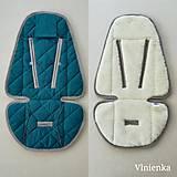 Textil - Podložka do kočíka CYBEX Priam a Balios S  100 % merino top super wash Petrol - 10962882_