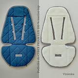 Textil - Podložka do kočíka CYBEX Priam a Balios S  100 % merino top INDIGO l - 10962887_