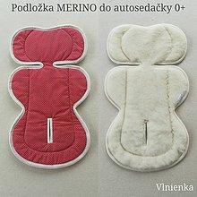 Textil - Vlnienka podložka do autosedačky vajíčka MERINO 0-13kg proti poteniu a prehriatiu - 10962342_