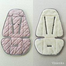 Textil - Podložka do kočíka CYBEX Priam a Balios S  100 % merino top Dusty pink - 10962912_