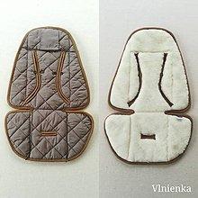 Textil - Podložka do kočíka CYBEX Priam a Balios S  100 % merino top Elephant grey - 10962916_