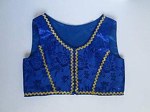 Detské oblečenie - brokátový dievčenský lajblík - živôtik ku kroju 1. - 10962699_