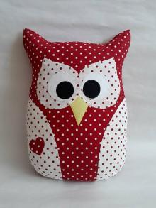Úžitkový textil - Vankúš sova veľká - 10962849_