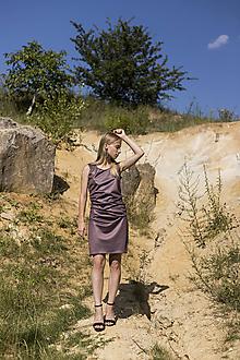 Šaty - Fialové šaty bodycon - 10960844_