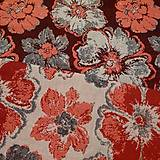 Textil - Yaro Fiori Ultra Red Black White - 10960376_