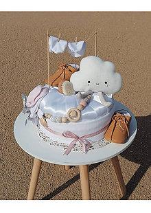 Hračky - OBLÁČIK plienková torta - 10962962_