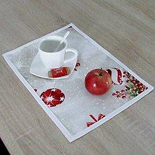Úžitkový textil - EDMUND-gule s červenými bobuľami-prestieranie 28x40 - 10960634_