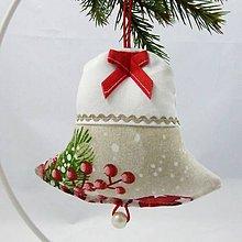 Úžitkový textil - EDMUND-gule s červenými bobuľami-zvonček 13x13 - 10960757_