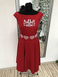 Šaty - Červené šaty Folk - 10961891_