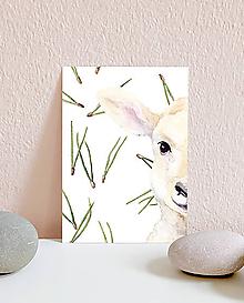 Papiernictvo - Vianočná pohľadnica s ovečkou - 10961614_