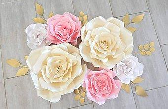 Papiernictvo - Set veľkých ruží na zavesenie - 10961505_
