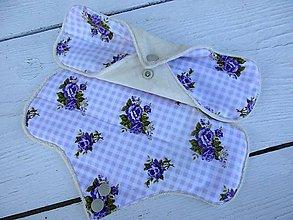 Úžitkový textil - látková nočná vložka-bambus,fialový kvet - 10962899_
