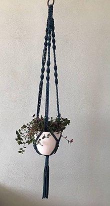 Dekorácie - Makramé držiak na kvetináč - 10961954_