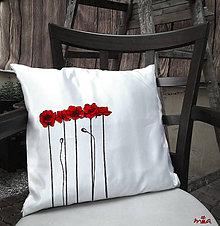 Úžitkový textil - Divé maky (saténová obliečka + vankúš) - 10962353_