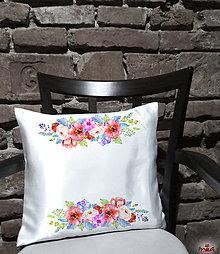 """Úžitkový textil - Romantický """"ružový"""" vankúš (saténová návliečka + vankúš) - 10962789_"""
