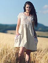 Šaty - Luční kvítí - přírodní smetanové - 10963056_